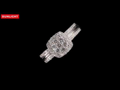Санлайт | Золотое кольцо с бриллиантами  | 67 бриллиантов и золото 585 пробы!