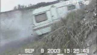 Car Pulling Trailer Smoking