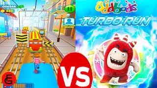 Subway Rush Runner VS Oddbods Turbo Run | Android Gameplay | Friction Games