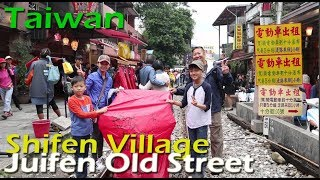 A visit to Jiufen Old Street and Shifen Village to launch a lantern in Taipei, Taiwan