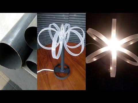 Cara Mudah Membuat Lampu Hias Meja dari Paralon Pvc Bekas || DIY decorative table lamps