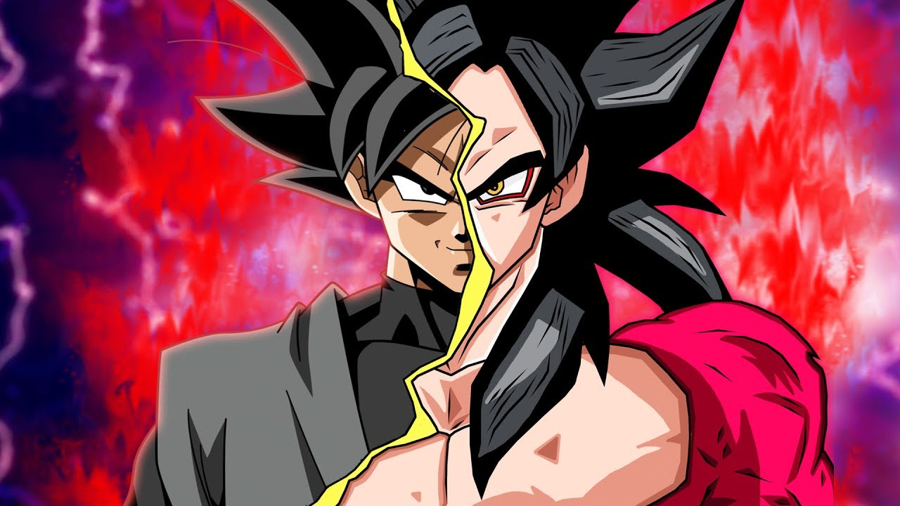dual summon hype super saiyan 4 goku black ssj4 goku summons