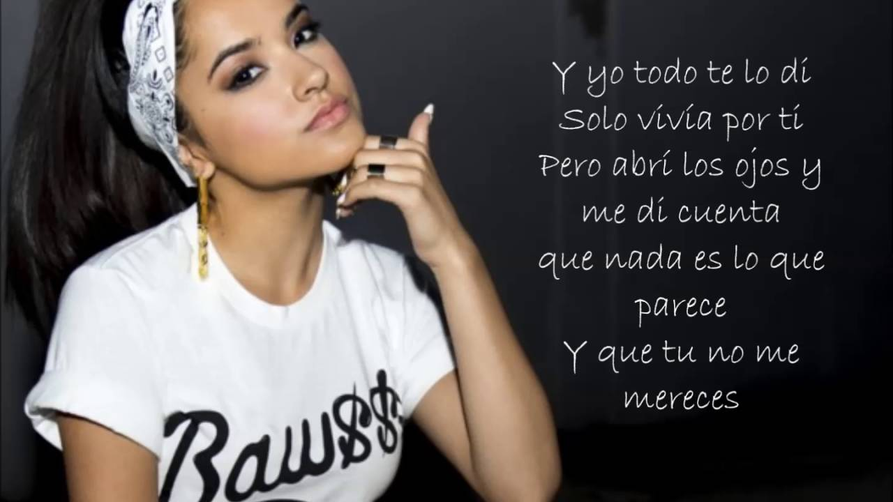 Becky G Sola Lyrics Video Youtube