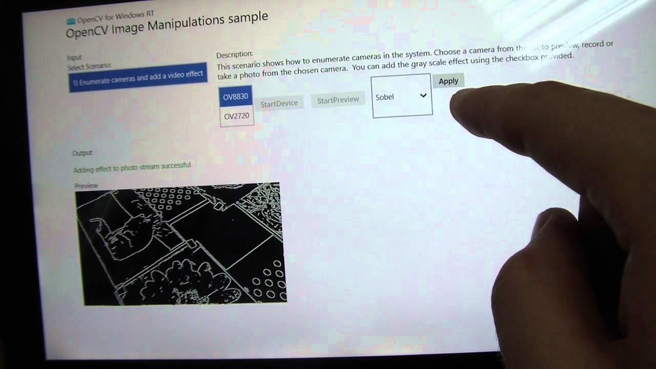OpenCV sample for WindowsRT #1
