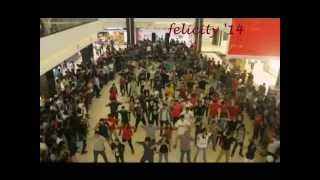 flash mob 2014, iiit hyderabad, manjeera mall(official)