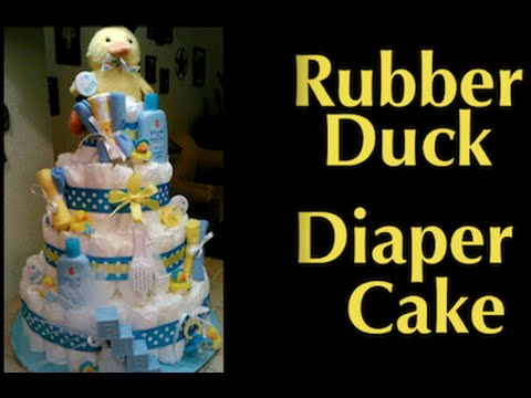 How To Make Daiper Cake For Baby Shower