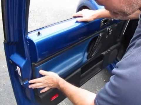 Reinstalling your New Beetle interior door panel & Reinstalling your New Beetle interior door panel - YouTube
