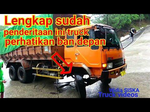 (Bikin Ngilu Perut)Truck Oren Overload ditanjakan ekstream sitinjau lauik..