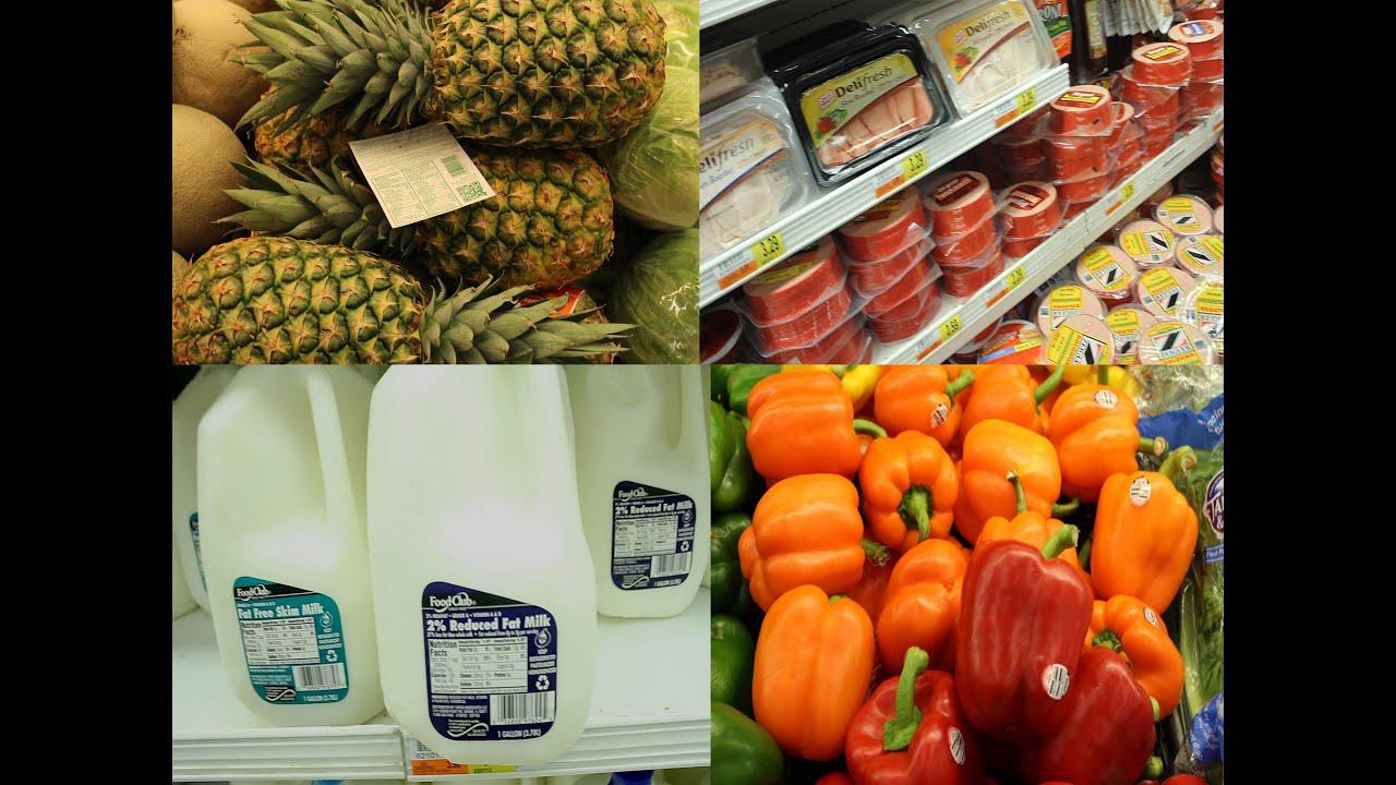Vocabulario de cosas de supermercado en inglés. Abarrotes, frutas verduras