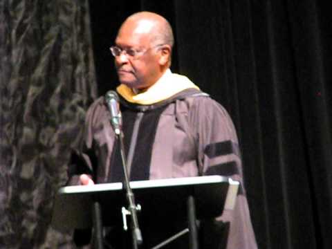 Herman Cain Commencement Speech to CCS 2014 Graduates mention Benjamin Mays native of Ninety Six, SC