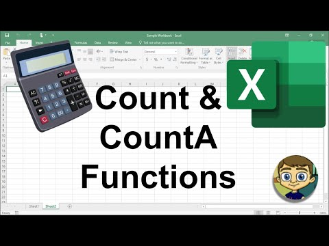 Using Count and CountA in Excel - 2018 Excel Tutorial