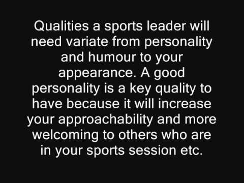 5 Characteristics of Good Sports Leaders