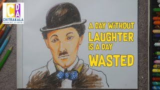 How To Draw Charlie Chaplin I World Laughter Day Drawing