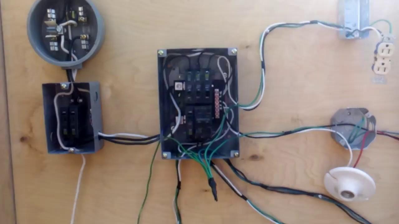 Instalaci n el ctrica residencial con 220 volts youtube - Instalacion de electricidad ...