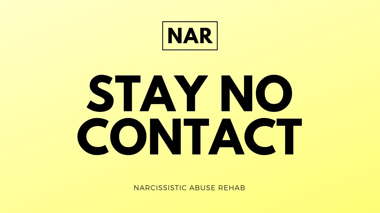 Why no contact works with narcissist