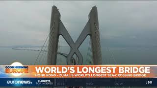 #GME | World's longest sea-crossing bridge opens in China