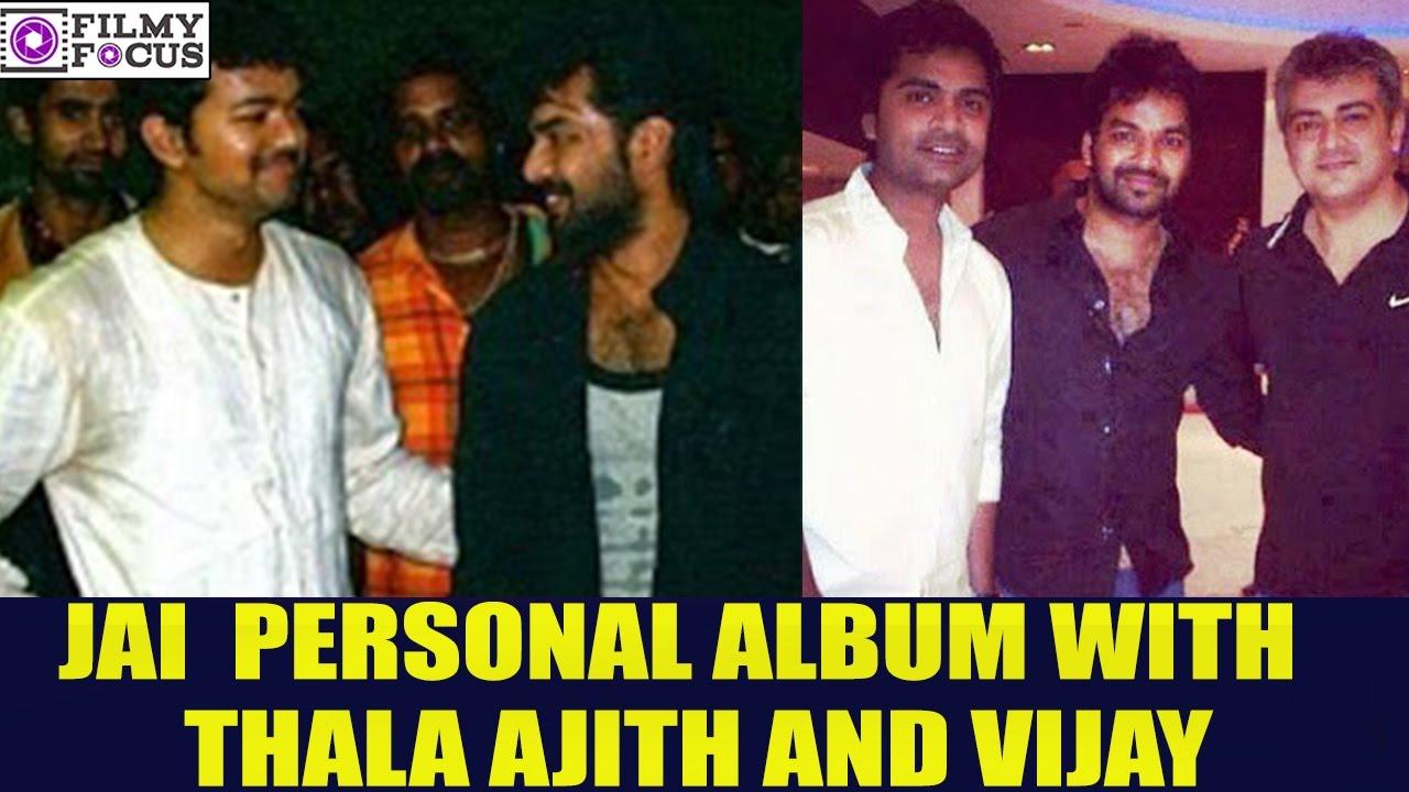 Actor Jai Family Photos || Jai Personal Album With Thala ...Ajith Family Album