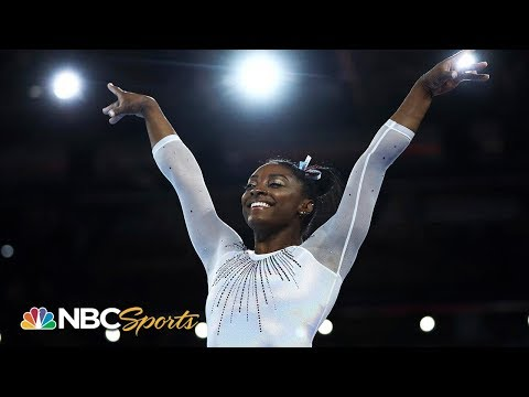 Simone Biles: the GOAT wins her 5th world title by record margin   NBC Sports