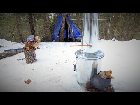 Off Grid experiment: Firing up my virgin Rocket Stove / Water Heater