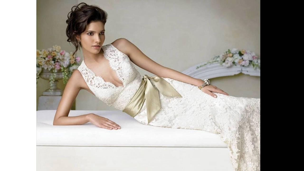 Spanish lace wedding dresses - YouTube