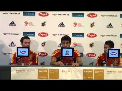 Conferencia de Prensa de Javi Martínez, Jordi Alba y Juan Mata
