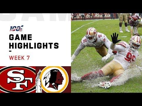 49ers vs. Redskins Week 7 Highlights | NFL 2019