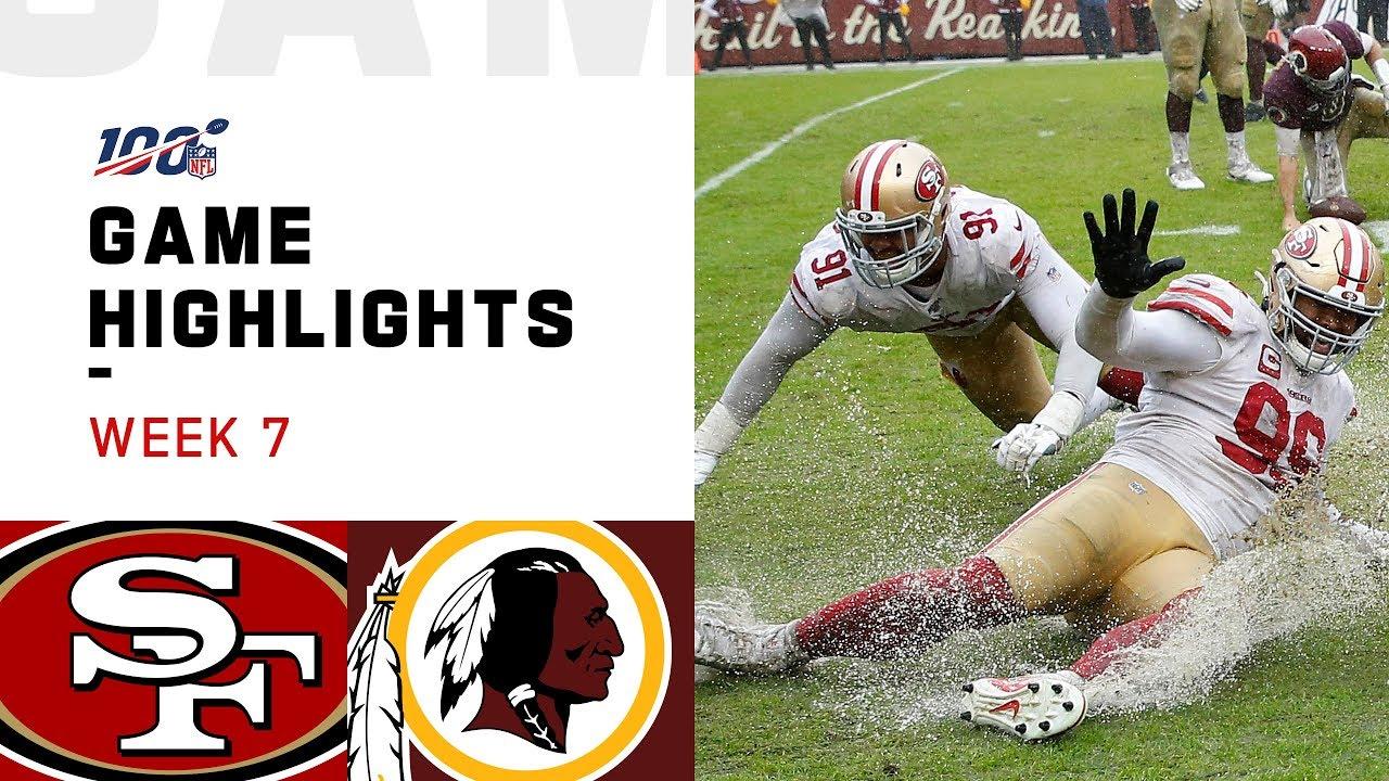 49ers Vs Redskins Week 7 Highlights Nfl 2019
