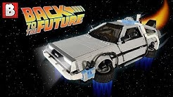LEGO UCS DeLorean Time Machine Custom Back To The Future Model!