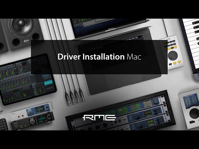 Driver & TotalMix FX Installation for RME Audio Interfaces on Mac