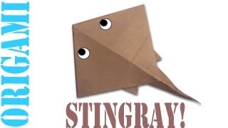 Origami Daily - 272: Stingray (mantaray) - Tcgames [hd]