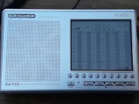 AIR All India Radio 13695 Khz Kaito 1103 DSP desde Mendoza (ARG)