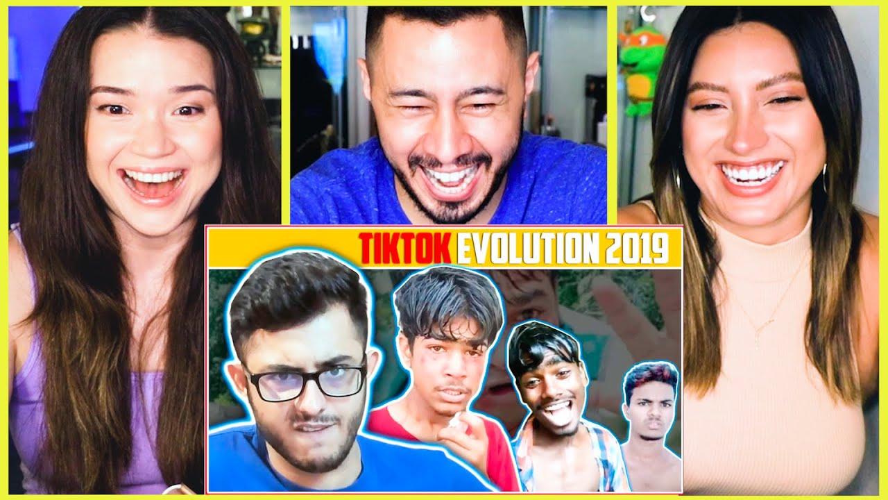 TIKTOK EVOLUTION 2019   CARRYMINATI   Reaction by Jaby Koay, Achara Kirk and Natasha Martinez