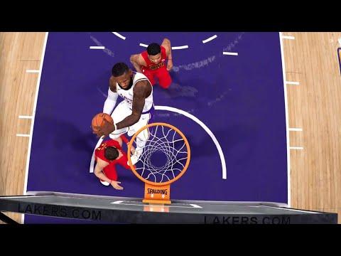 NBA LIVE 19 - Atlanta Hawks vs Los Angeles Lakers - CPU SIM Full Game - PS4 PRO - HD