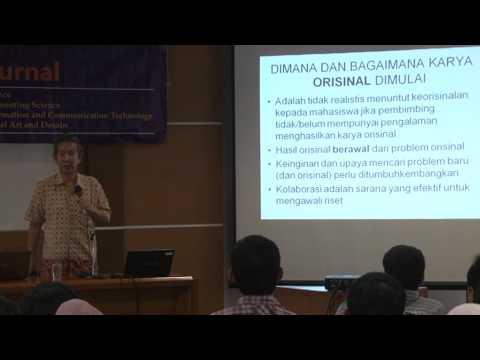 Pelatihan Penulisan Artikel untuk Publikasi di Jurnal Ilmiah - Prof. Edi Soewono