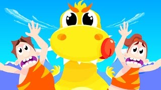 Baby T-Rex and the Dinosaur Dance | Dinosaur Songs | by Little Angel