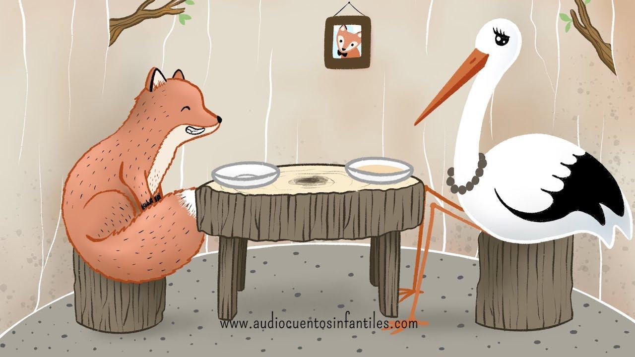 El zorro y la cigüeña | Audiocuento con valores - YouTube