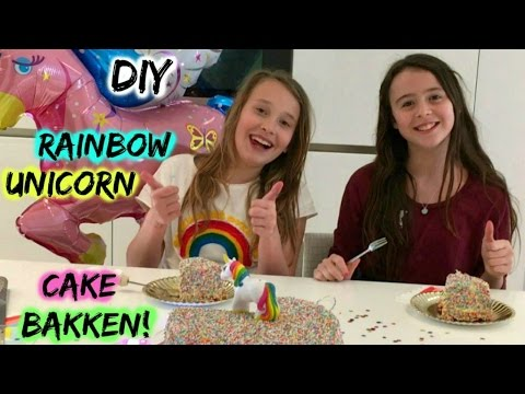 DIY Rainbow Unicorncake bakken met Girlys blog!