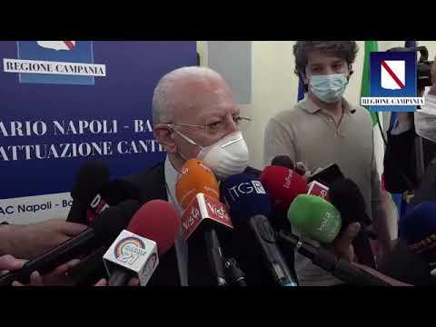 De Luca - Coronavirus e Napoli-Bari: il punto con la stampa (01.06.21)