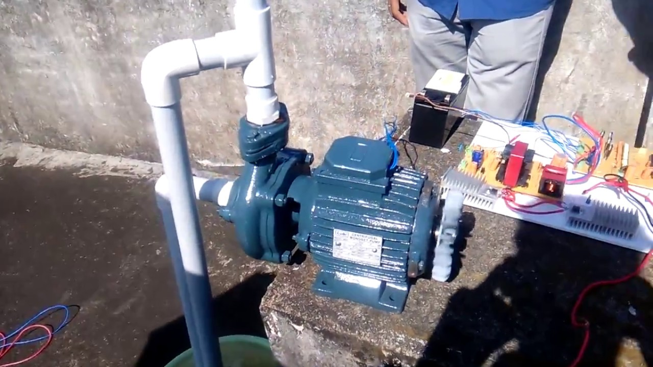 Solar PV Based 3phase induction motor Water pump - YouTube