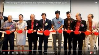 印象新加坡 IMPRESSIONS SINGAPORE FASS Singapore Bicentennial and National Day Art Exhibition 2019