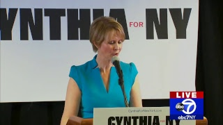 Actress Cynthia Nixon's first campaign event as NY gubernatorial candidate