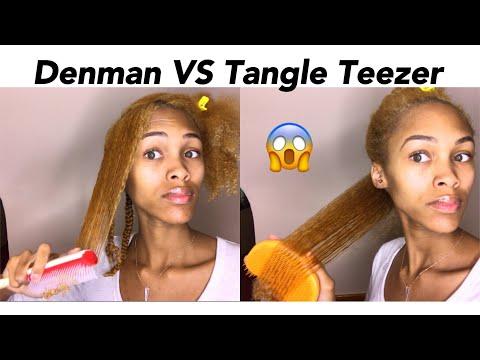Denman Brush Vs Tangle Er On Natural Hair