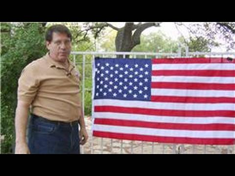 Hang Flag On Wall american & texas flags : how to hang a flag - youtube