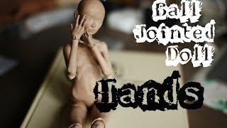 DOLL'S HANDS SCULPTING // ЛЕПКА РУК ШАРНИРНОЙ КУКЛЫ