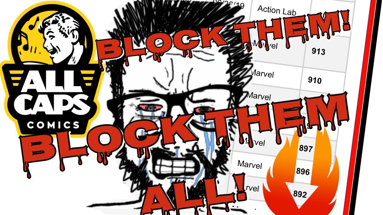 EVS: NPC Comics Industry pros block 44,000+ paying customers as retail comic industry collapses!