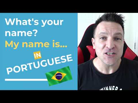 Learn Brazilian Portuguese Fast! Easy Lesson - How to say yo