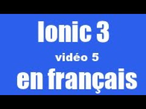 Ionic 3 - ajouter un FAB (Floating Action Button)