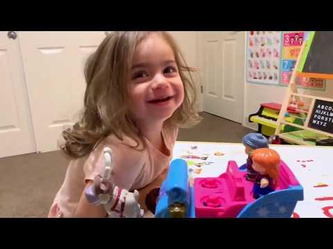 Unboxing Fisher Price Little People Disney Frozen Kristoff's Sleigh