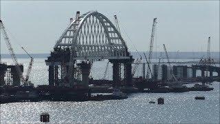 видео строительство керченского моста