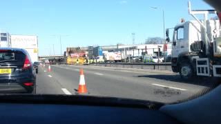 Lorry Accident in London on A 406 southbound - 2 April 2013
